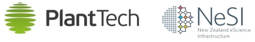 PlantTech and NeSI logos
