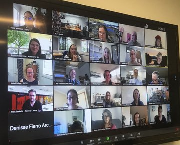 Screenshot of one of the NCI Australia WHPC Catchup Zoom calls.