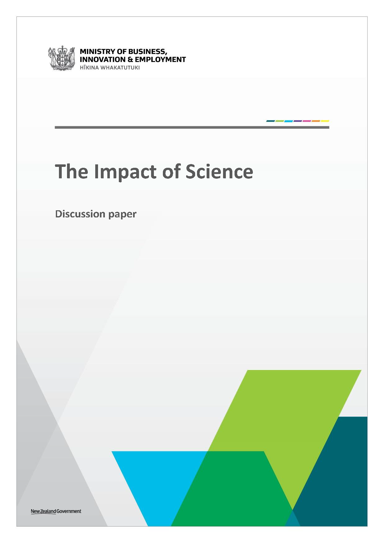 MBIE Impact of Science discussion paper June 2017