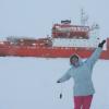 Photo of Alena Malyarenko in Antarctica