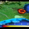 Amplitude rendered on 3D landscape map
