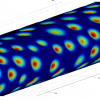 Virtual post-capillary venule, informed by biological data, used in our computational simulations
